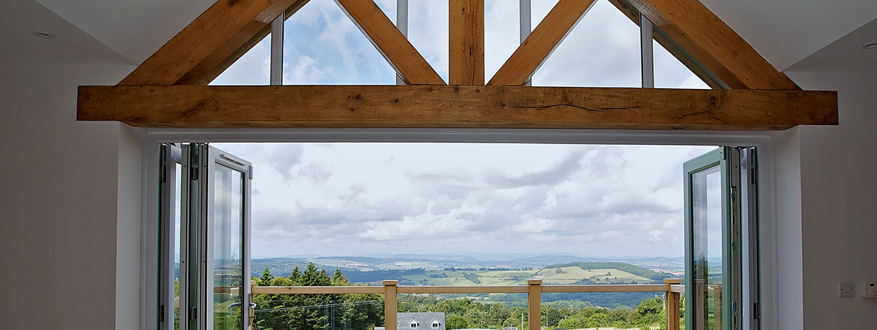 Solid Oak Beams and Balcony by Timberpride
