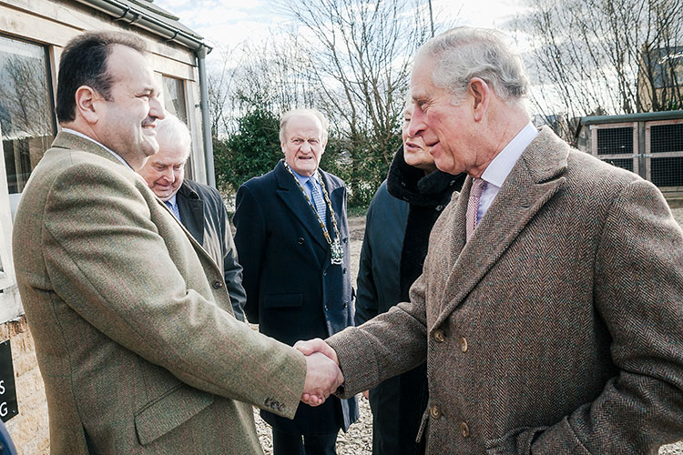HRH The Prince of Wales Meeting Alec Golesworthy of Timberpride