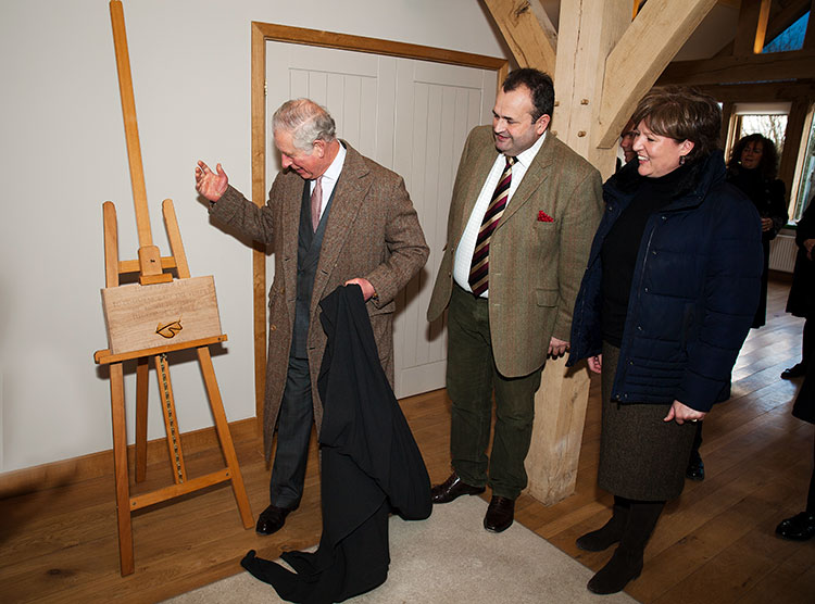 HRH The Prince of Wales Unveiling Commemorative Plaque at Timberpride