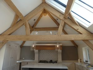 Roof Trusses in Kitchen