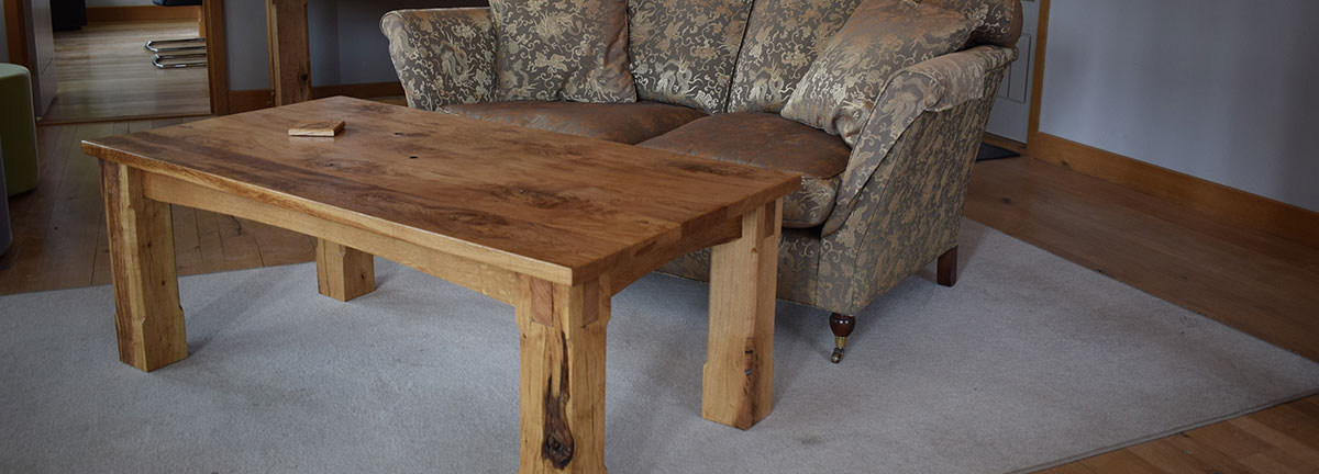 Oak Table in Living Room