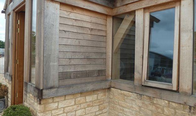 Oak profiled cladding