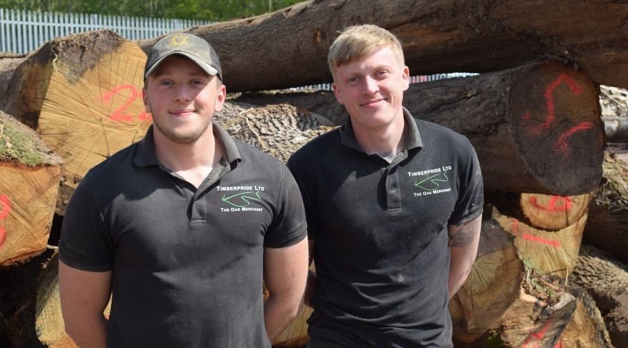 Tom and Jon part of the Timberpride team