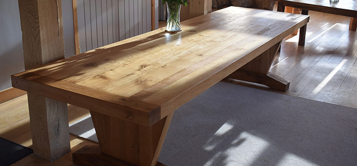 Old Refectory Style Dining Table made of Oak